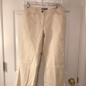Theory Size 4 Ladies Cotton Blend Pants Off White